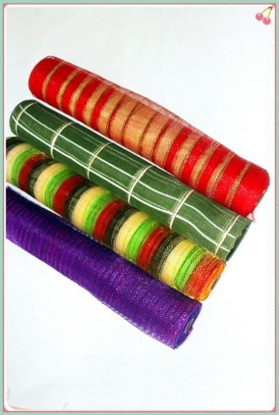 Gold metallic decorative mesh rolls