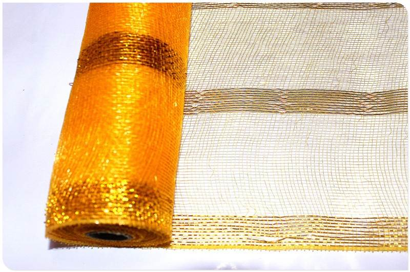 Group metallic wreath mesh rolls