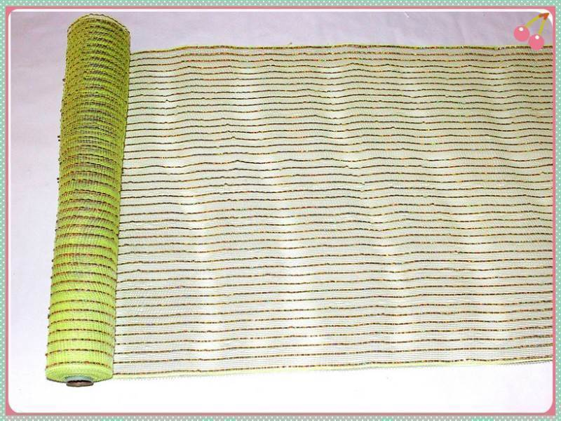 Gold metallic decorative mesh rolls