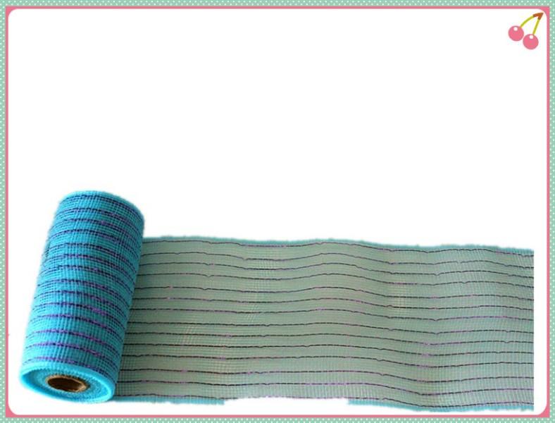 15.5cm x 10yards decorative mesh ribbon