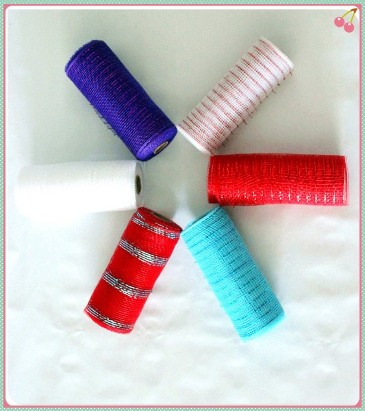 High Grade 6 inch poly mesh deco rolls