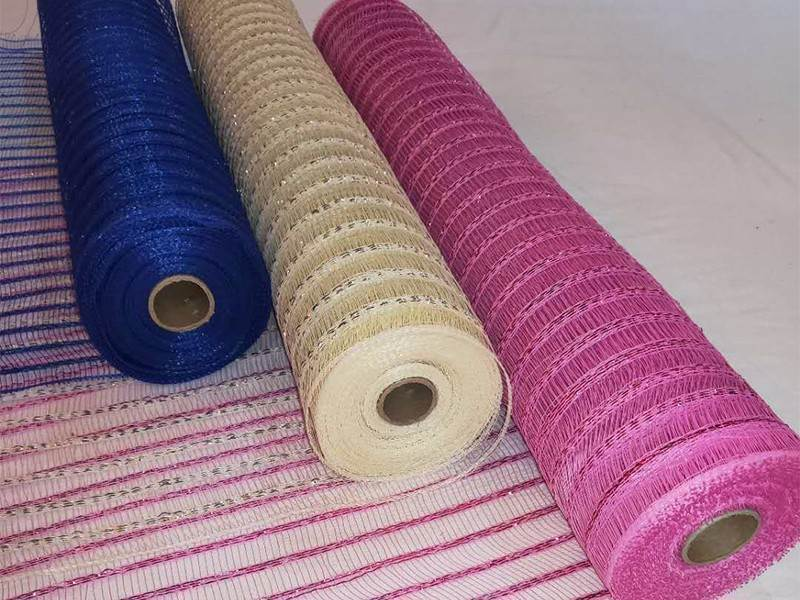 Excellent Quality Stripe floral wrapping mesh