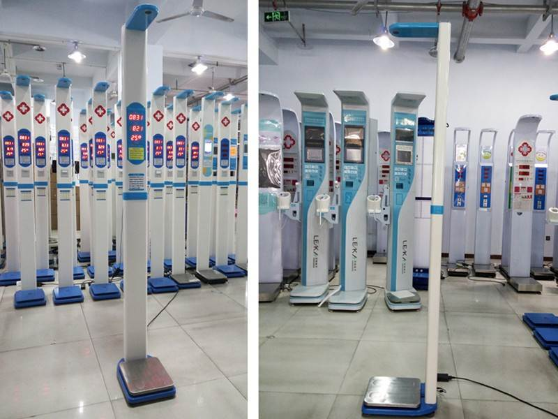 digital  ultrasonic height weight bmi scale machine